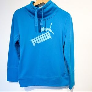 Blue PUMA Athletic Pullover Sweater